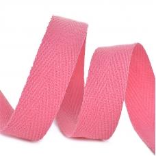 Лента киперная 15 мм хлопок 2.5 гр/см цвет F137 розовый