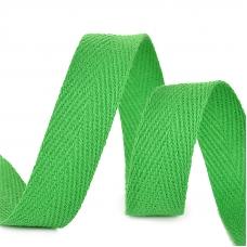 Лента киперная 15 мм хлопок 2.5 гр/см цвет F239 зеленый
