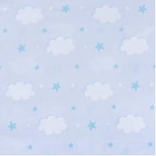 Ткань на отрез поплин 150 см 1981 Облака