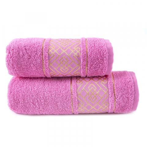 Полотенце махровое Bangle ПЛ-1801-02924 70/120 см  цвет розовый