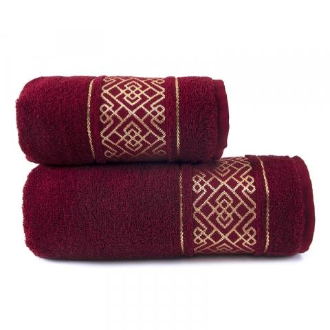 Полотенце махровое Bangle ПЛ-1801-02924 70/120 см  цвет бордо
