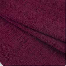 Полотенце махровое 30/50 см цвет 945 бордовый