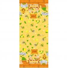 Полотенце вафельное банное 150/75 см 377/5 Баня новая цвет лимон