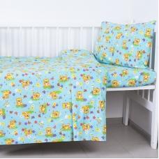 Постельное белье в детскую кроватку 1631/4 с простыней на резинке