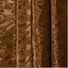 Портьерная ткань 150 см на отрез 10-1 цвет коричневый