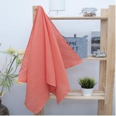 Полотенце вафельное банное 150/75 см цвет коралловый