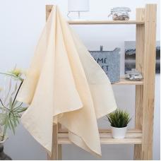 Полотенце вафельное банное 150/75 см цвет персиковый
