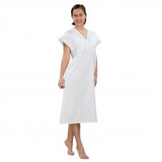 Сорочка женская ночная для рожениц бязь отбеленная 100 гр/м2 52-54 рост 172-176