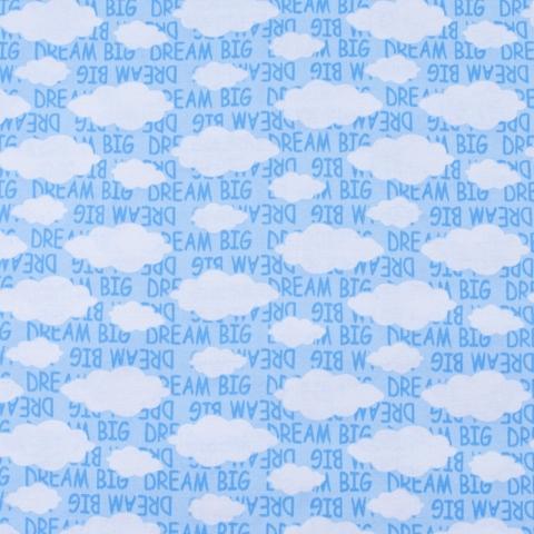 Ткань на отрез кулирка Облака 2303-V1