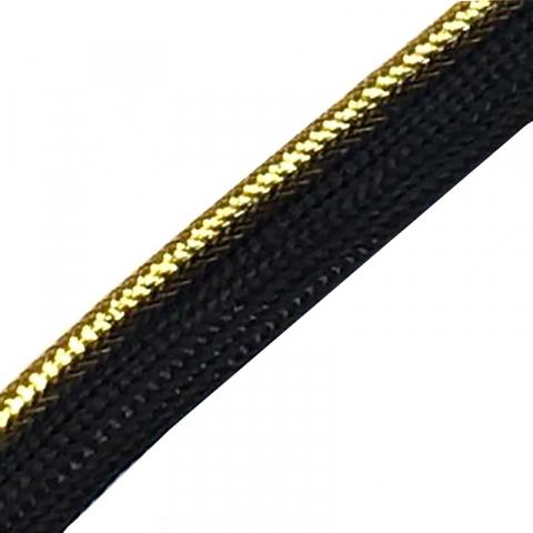 Лампасы №60 черные золотой кант 1,3см уп 10 м