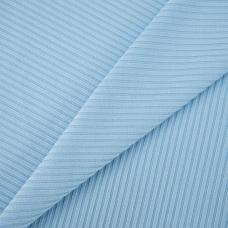 Мерный лоскут трикотаж лапша цвет голубой 1 м
