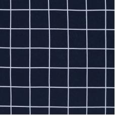 Ткань на отрез кулирка R-R1317-V1 Клетка цвет синий