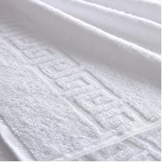 Полотенце махровое 450 гр/м2 Туркменистан 40/70 см белое