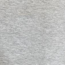 Ткань на отрез футер с лайкрой 1643 цвет серый меланж