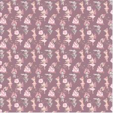 Ткань на отрез бязь премиум ГОСТ детская 150 см 13211/2 Балеринки
