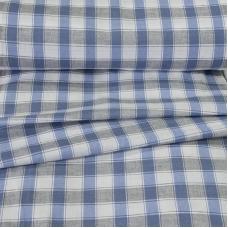 Ткань на отрез полулен полотенечный 50 см 3/55/39 Клетка 113358