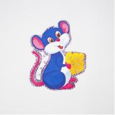 Нашивка Мышка с сыром 20*17см