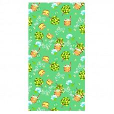Полотенце вафельное банное 150/75 см 376/2 Баня цвет зеленый