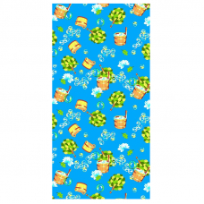 Полотенце вафельное банное 150/75 см 376/1 Баня цвет синий