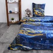 Детское постельное белье из бязи 1.5 сп 192441 Неон 1 син