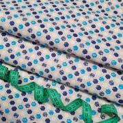 Бязь плательная 150 см 11697/2 цвет синий