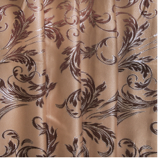 Мерный лоскут портьерная ткань с люрексом 150 см Х7187 цвет 11 бежевый ветка 1.4 м