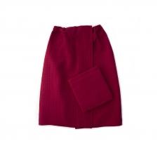 Набор для сауны вафельный Премиум женский 2 предмета (килт шир.резинкой+полотенце) цвет 066 бордо