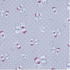 Ткань на отрез кулирка 4082-V1 Мишка цвет серый