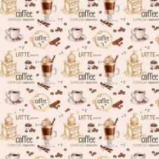 Ткань на отрез вафельное полотно 50 см 5230/1 Кофейня