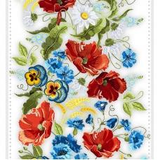 Ткань на отрез вафельное полотно 50 см 170 гр/м2 30132/1 Вышивка