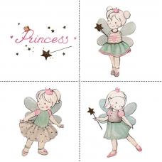 Ткань на отрез перкаль детский 150/37.5 см 02 Принцесса