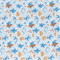 Ткань на отрез ситец 95 см 20023/1 Акулы