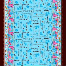 Ткань на отрез рогожка 150 см 4548/3 Кофе вид 3