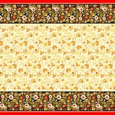 Вафельное полотно набивное 150 см 342/1 Хохломские узоры