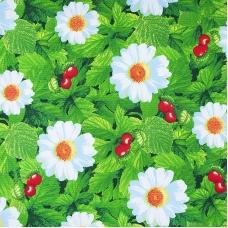 Вафельное полотно набивное 150 см 391/2 Жаркое лето цвет зелёный
