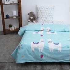 Детское постельное белье из бязи 1.5 сп Лама 3053-1