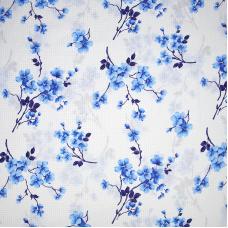 Ткань на отрез бязь 120 гр/м2 220 см 5204/1 Сакура цвет голубой