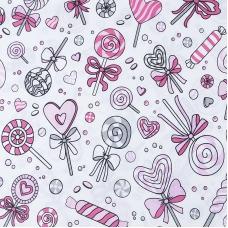 Бязь плательная 150 см 8107 Карамель цвет розовый