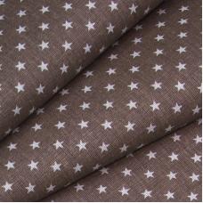 Бязь плательная 150 см 7223 Мелкие звездочки 0.5 см цвет кофе