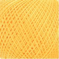Нитки для вязания Ирис 100% хлопок 25 гр 150 м цвет 0302 желтый