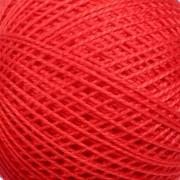 Нитки для вязания Ирис 100% хлопок 25 гр 150 м цвет 0810 красный