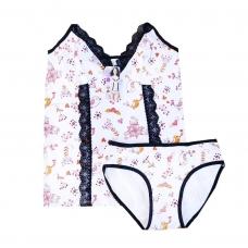 Пижама женская Indena 37013 цвет белый р. XXL