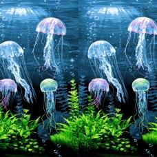 Вафельное полотно набивное 150 см 3089/1 Медузы