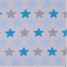 Ткань на отрез флис Звезды 40995/2 цвет голубой
