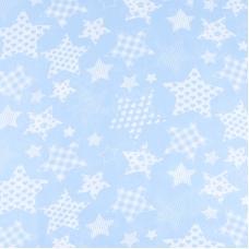 Отрез 150х150 Бязь плательная 150 см 1683/3 цвет голубой