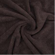 Ткань на отрез махровое полотно 150 см 390 гр/м2 цвет шоколад