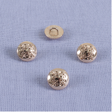 Пуговица металл ПМ69 10мм золото узор уп 12 шт