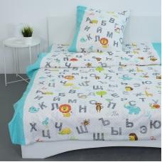 Детское постельное белье из бязи 1.5 сп 3011-1 Алфавит