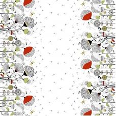 Ткань на отрез рогожка 150 см 30157/2 Одуванчики
