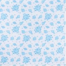 Ткань на отрез ситец 95 см 98031 Коты цвет голубой